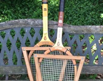 Tennis Rackets . set of two . Jack Kramer Personal Rackets . Wilson Jack Kramer Rackets . vintage tennis rackets