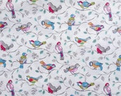 3997 - Cath Kidston Little Birds (Offwhite) Cotton Fabric - 55 Inch (Width) x 1/2 Yard (Length)