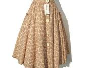 Vintage Ettore Pancaldi Circle Skirt Pink Cotton Paisley w/ Tags NOS M