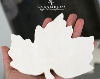 2 Unfinished Wood Maple Leaf Cutout  DIY decor