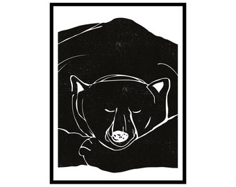 "Extra large poster Sleepy bear (50 x 70 cm/20"" x 28"")"