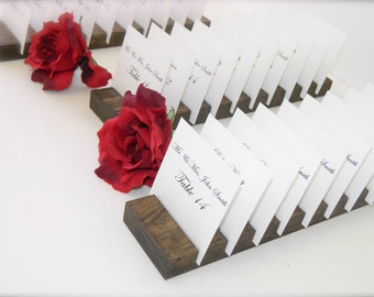 Place card holders + Plank Place Card Holders + Rustic plank place card holders