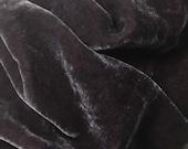 AMETHYST PURPLE Silk Velvet Fabric fat 1/4