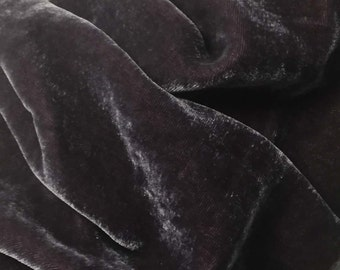 AMETHYST PURPLE Silk Velvet Fabric fat 1/4