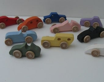 Ten - Pocket cars, various colors and shapes