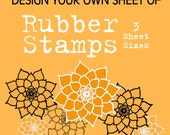 Design your Own Custom, Unmounted Photopolymer Rubber Stamps, 3 Sheet Sizes - Handmade by Blossom Stamps