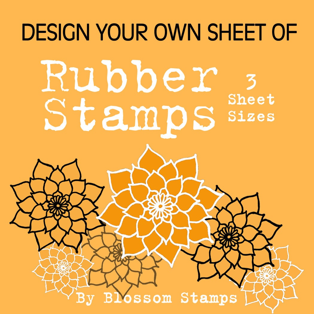 Design Your Own Rubber Stamp: Design Your Own Custom Unmounted Photopolymer Rubber Stamps