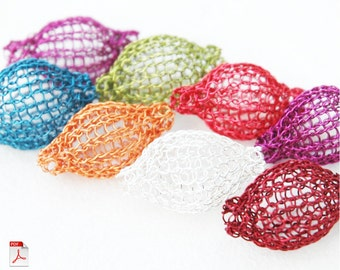Wire Crochet Pattern Pixie beads PDF how to crochet wire bubble wire tutorial jewely instructions DIY ebook , digital download