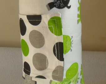 Giraffe and Lime Green Minky Dot Changing Mat Pad CHOICE OF MINKY