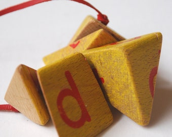 Recycled Wood Fractal Necklace by Mainichi