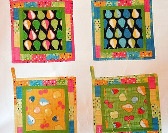 Quilted Potholder Kit - Pearadise