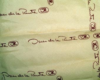 Oscar de la Renta Vintage Signature Scarf