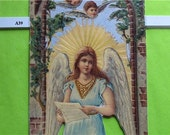 Victorian Die Cut Christmas Angel Under Arbor Cherubs New Made in UK