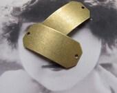 Brass Ox Plated  Brass Dapt ID Blank Tags Connectors  639BOX x2
