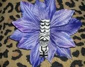 Tiki, Tiki flower, Purple tiki flower, Tropical flower, Purple flower, Pinup, Retro, Wedding, Tiki wedding