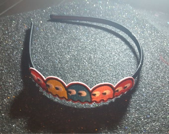 Pacman,Video game, geek, Geek headband, Comic book, Comic con,Video game headband, ready to ship