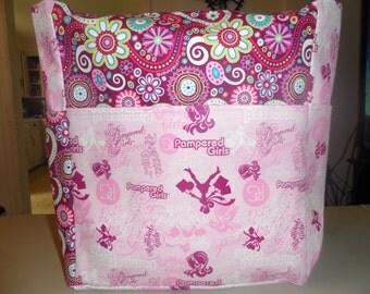 pampered girls pink paisley large tote bag/purse/ diaper bag