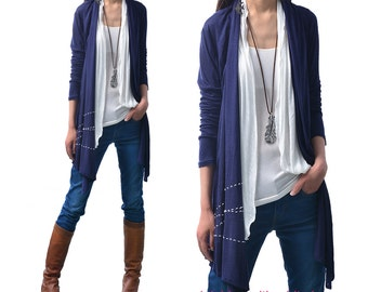 Spring Drizzle - False Layered Top / embroidered sheer cardigan (P5102)