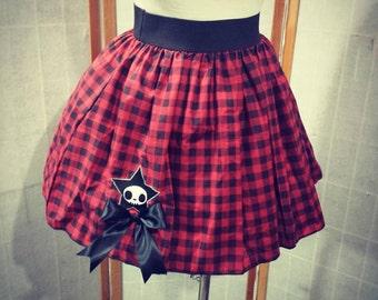 Punk gingham skirt