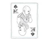 SPADES face cards notecards