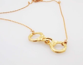 Gold Handcuffs Necklace