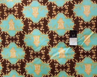 Tina Givens TG80 Opal Owl Trellis Chocolate Cotton Fabric By The Yard
