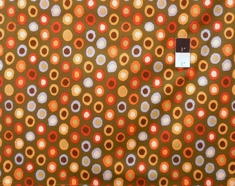 Brandon Mably BM15 Rings Olive Cotton Fabric By The Yard