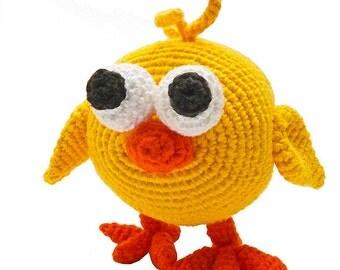 amigurumi animal glotzis PDF crochet pattern tutorial by Katja Heinlein chick chicken bird stuff toy kid ebook digital file biddy fledgling