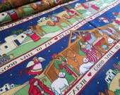 Peace on Earth Nativity Fabric from Fabric Traditions by Susan Winget - 3/4th Yard