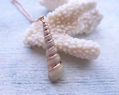 Rose Gold Dipped Tower Sea Shell