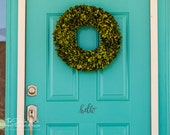 hello Front Door - hello decal for your door - Entry or Porch Decal - Vinyl Lettering - Home Decor - Wall Art Graphic Stickers Decals 1806