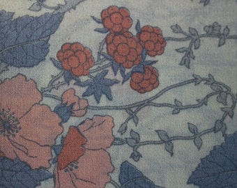 Pair of vintage pillow cases, blackberry pattern