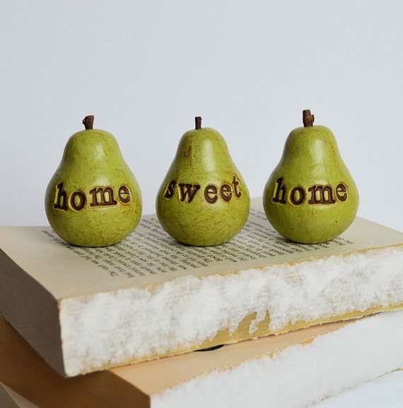Gift for her / Green home sweet home pears / Christmas gifts for her / gifts for women mom grandma sister friend