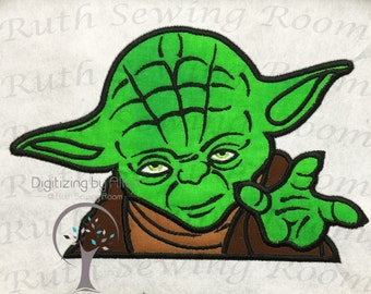 Star Wars Yoda Jedi Master Applique, Applique Embroidery Design This It's Not A PTACH