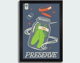 Preserve - 12x18 screenprint poster