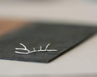 Small Silver Earrings - Small Twigs - Sterling Silver Earrings