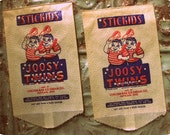 Vintage Joosy Twins Frozen Ice Bags (2) - 1940s packaging, Unusual