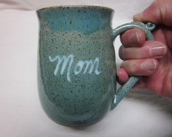 Mom Large 13 Ounce Coffee Mug  Stoneware