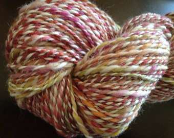 Roses Handspun Yarn Worsted Weight  195 yards