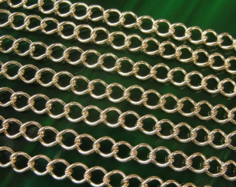 7 ft Gold Plated Chain /  necklace chain / jewelry link chain / 7x5mm / CHN812