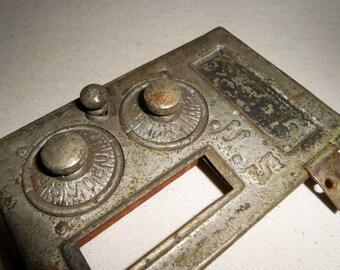 Vintage Metal US Mail Box Door, Steampunk, Industrial