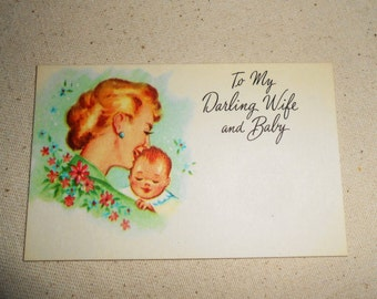 Vintage Florist New Baby Greeting Cards