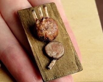 Dollhouse Miniature Food Rib Roast 1:12 Scale
