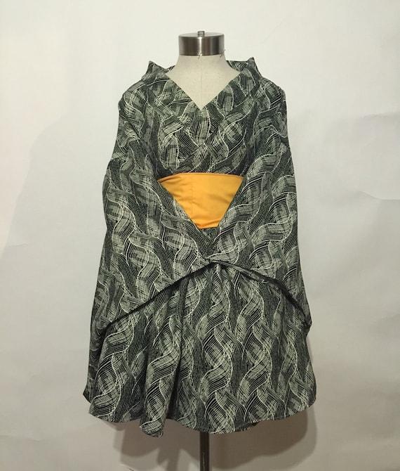 Simple Kimono Dress in Black