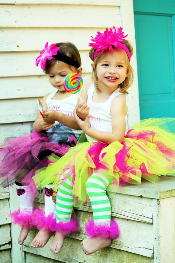 BLOW OUT SALE 75% Off pink, hot pink & lime tutu - Fits girls 2-5T - Perfect for birthdays, photos, dress up