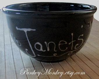 Solid color bowl personalized kiln fired pottery custom bowl cereal soup chowder chili salad ice cream pasta choose your desired color