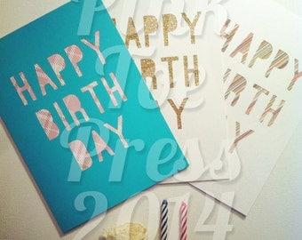 Happy Birthday Card cut paper ready to frame art