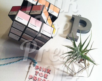 The Incredible Pink Toe Press Color Puzzle Cube