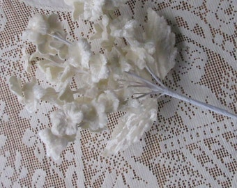 Italy Ivory Velvet Bouquet Velvet Fabric Millinery Flowers Forget Me Nots Bouquet