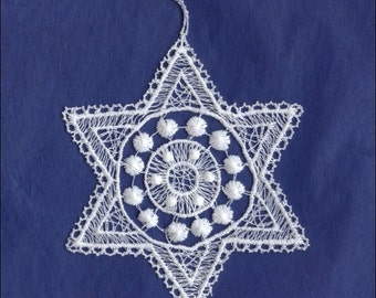 Germany Woven Cotton Thread Christmas Snowflake Ornament For Crafting  LHS005